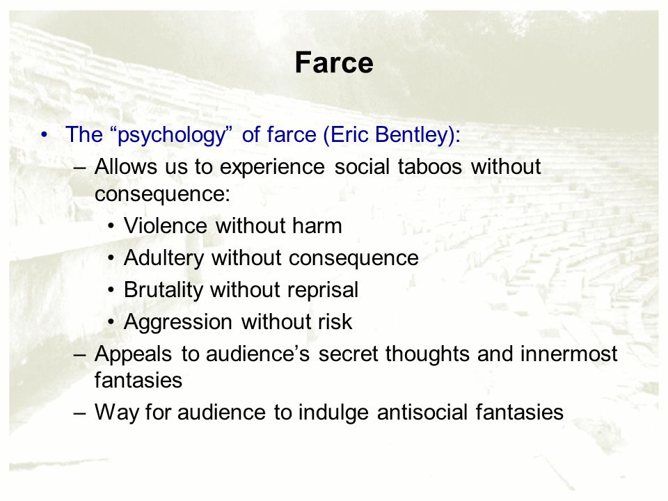 Chapter 5 theatrical writing perspectives and forms for Farcical comedy definition