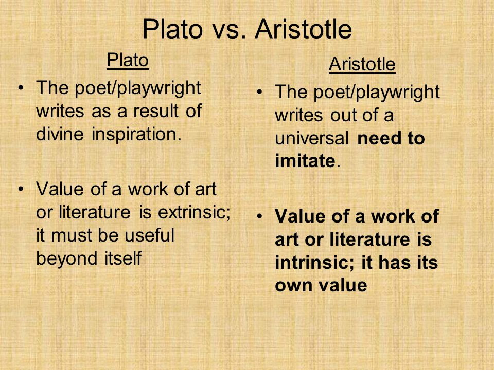 plato vs aristotle The cave and the light has 699 ratings and 151 reviews joseph said: the cave and the light: plato versus aristotle, and the struggle for the soul of wes.