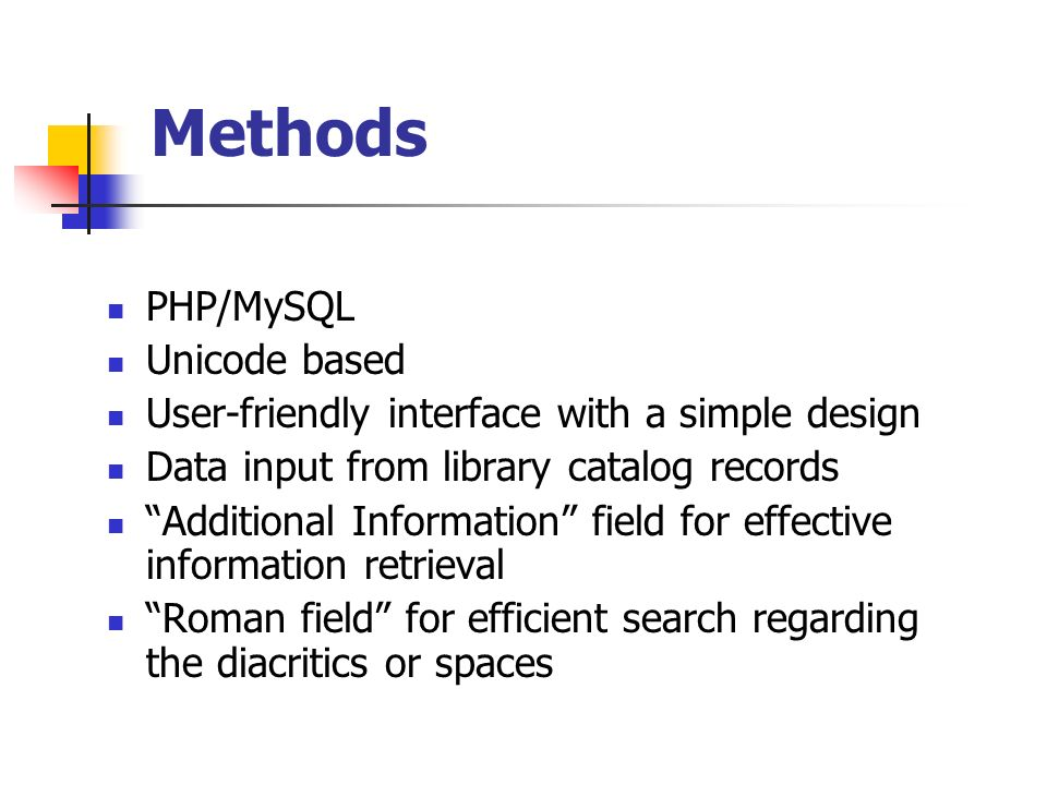 Methods PHP/MySQL Unicode based