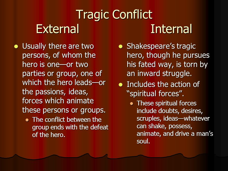 internal character conflict in macbeth by shakespeare Types of conflicts present in shakespeare's macbeth  one type of internal conflict: character vs self character struggles with a descision or identity conflict.