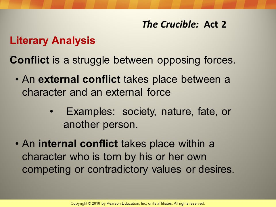major conflicts in the crucible