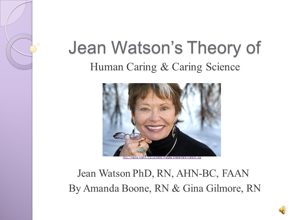 watsons theory of caring Caring science, mindful practice: implementing watson's human caring theory by kathleen sitzman jean watson call number: ebsco ebooks.