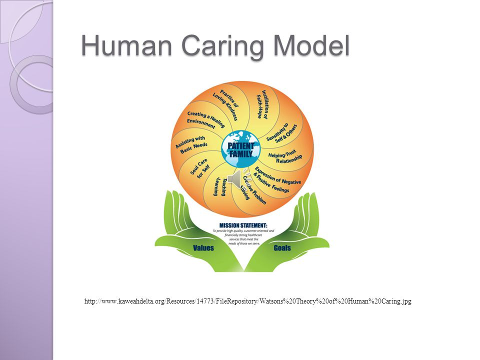 watsons theory of caring In 2005, the registered nurses on the network nursing council selected watson's theory of human caring as the framework for nursing the theory was chosen for.