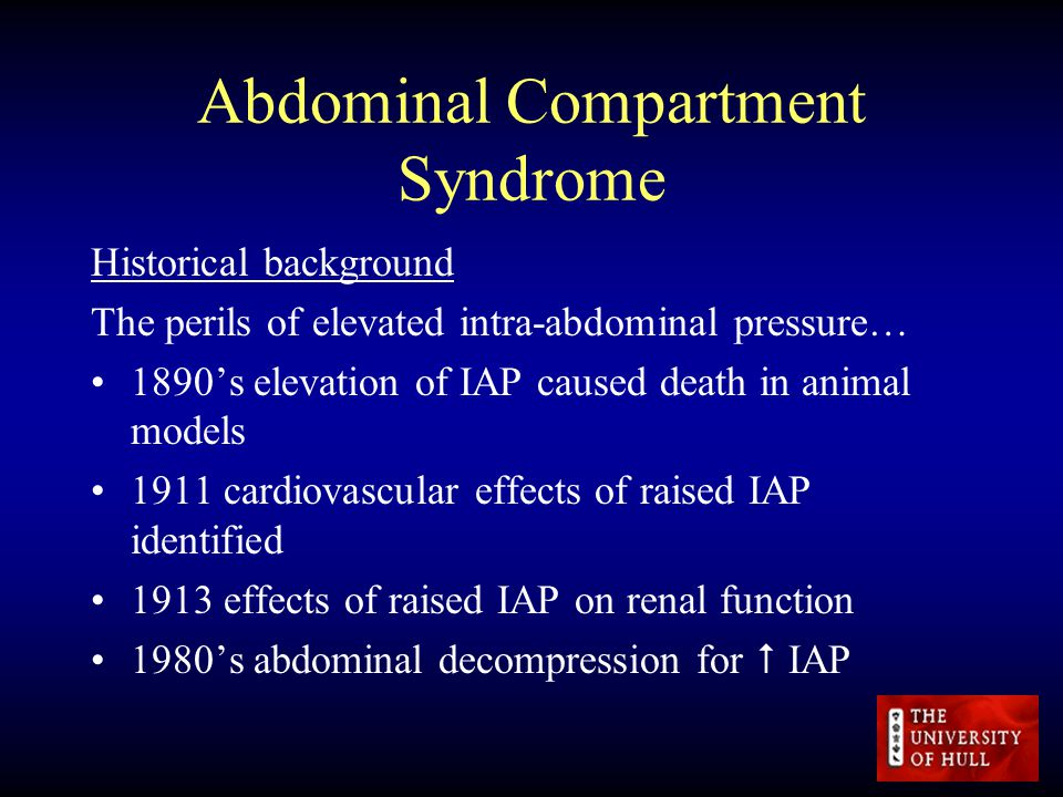 intra abdominal compartment syndrome pdf