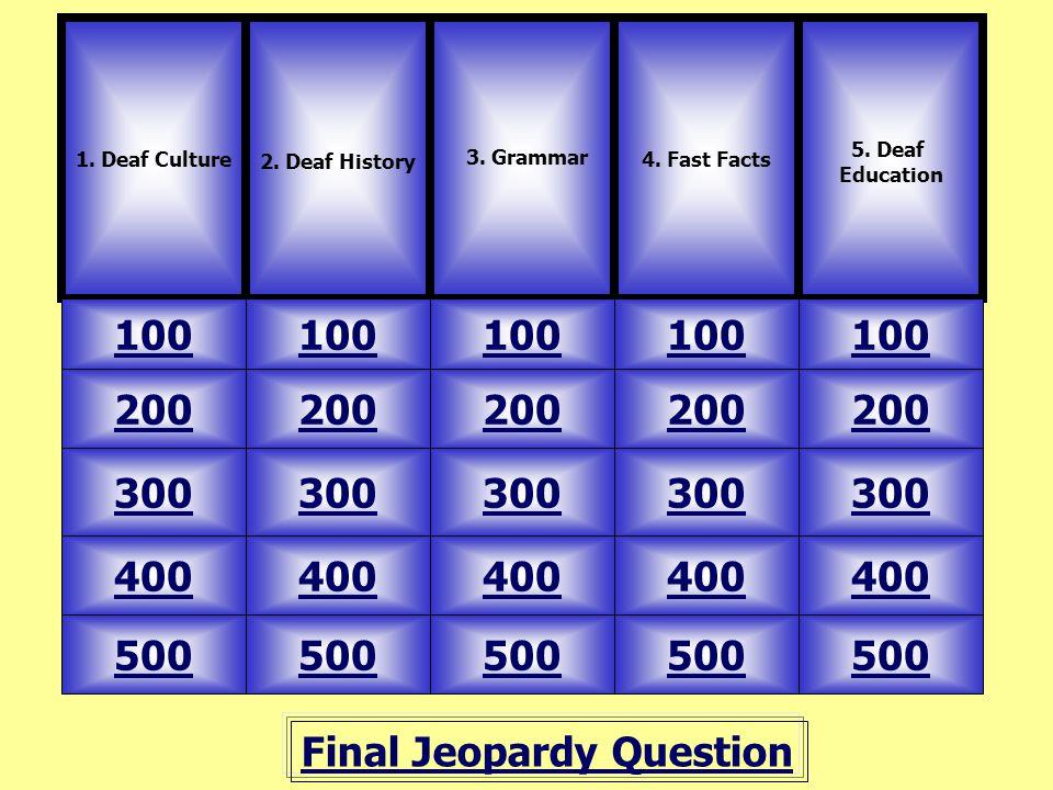 deaf history questions