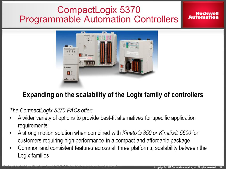 compactlogix and studio 5000 v21 highlights ppt 53 compactlogix 5370 programmable automation controllers