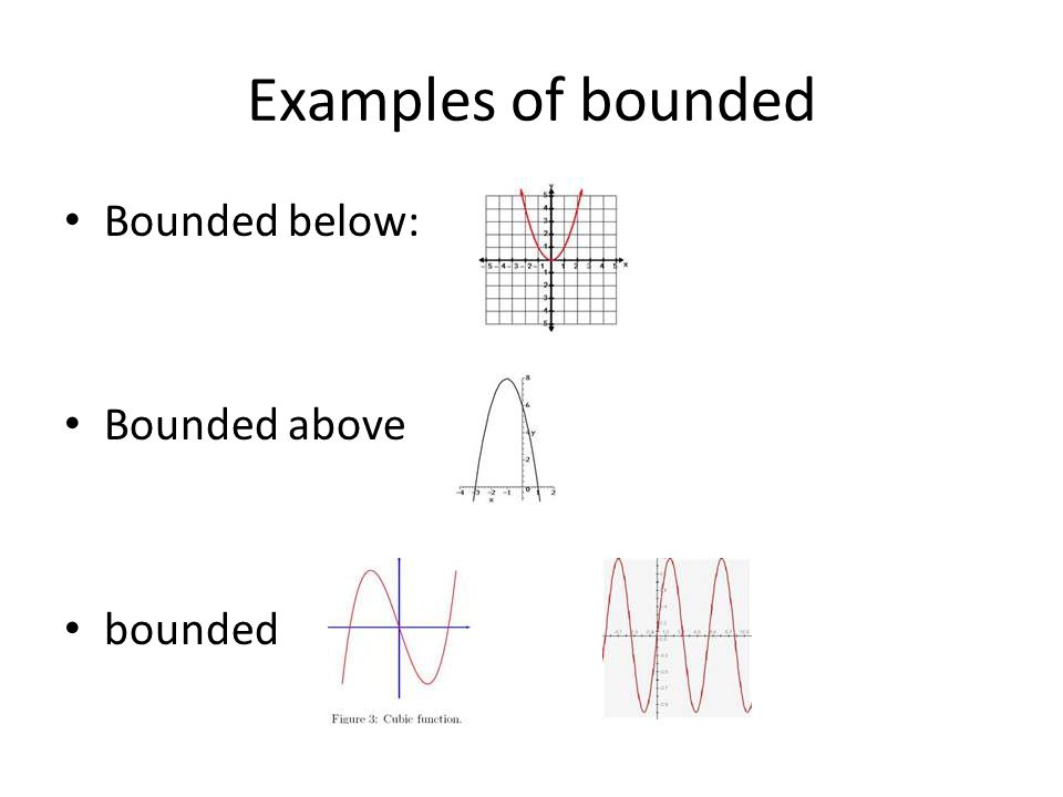 how to find upper and lower bounds of a function