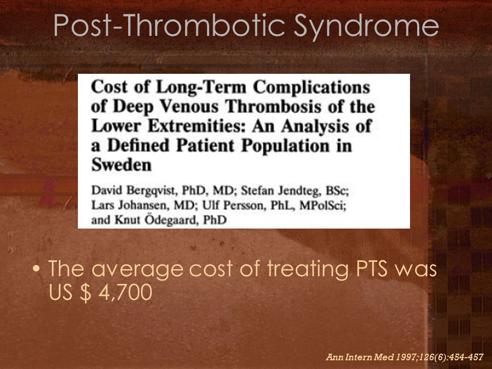 Post-Thrombotic Syndrome
