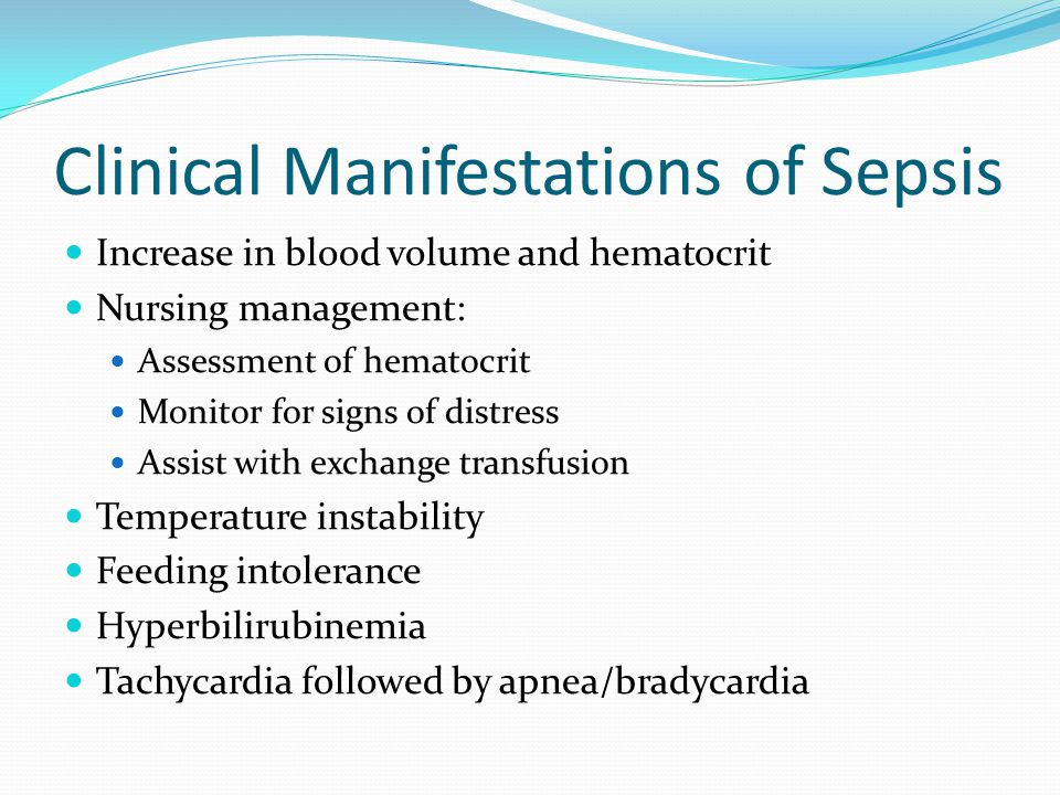 Clinical Manifestations of Sepsis