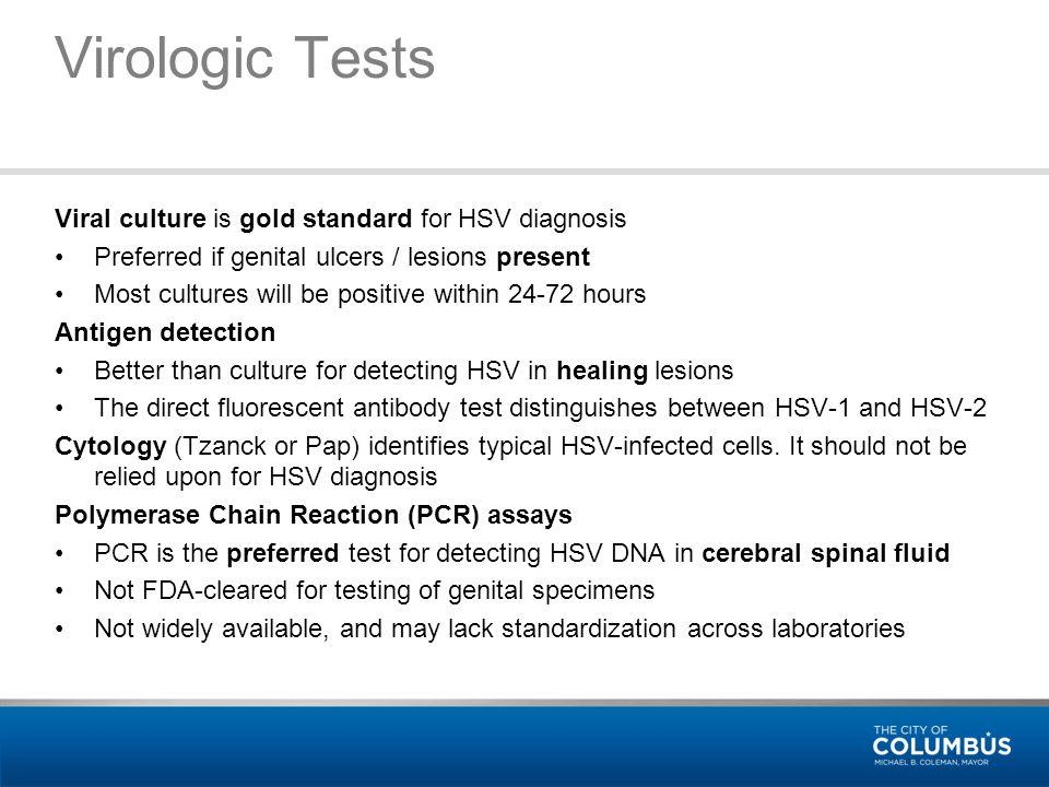 Diagnostic test for genital herpes