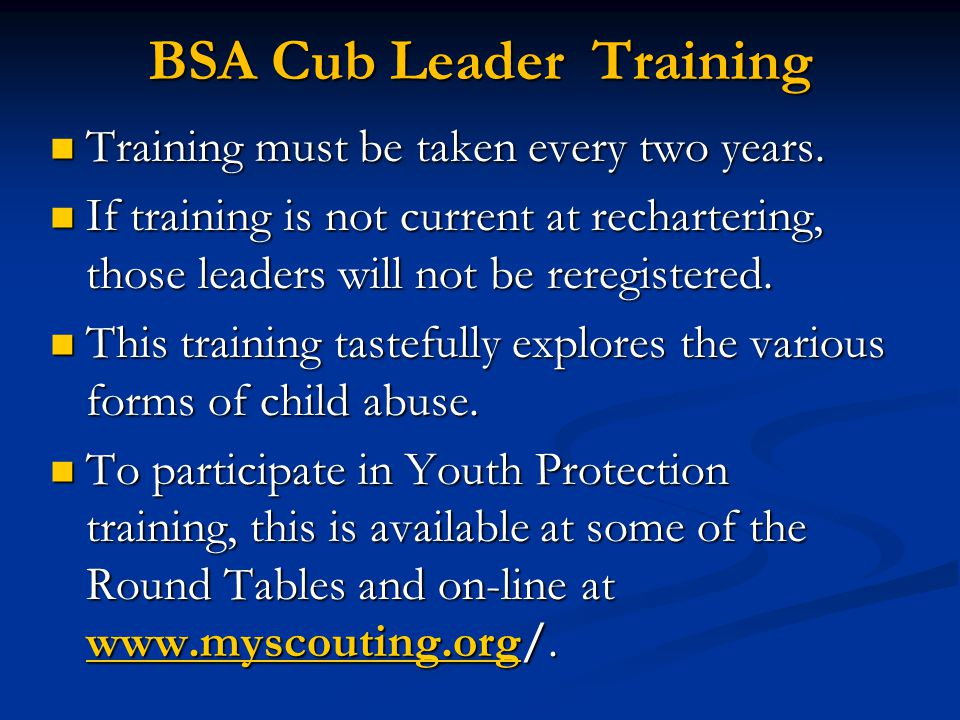 Cub Scout Committee Training  Ppt Download