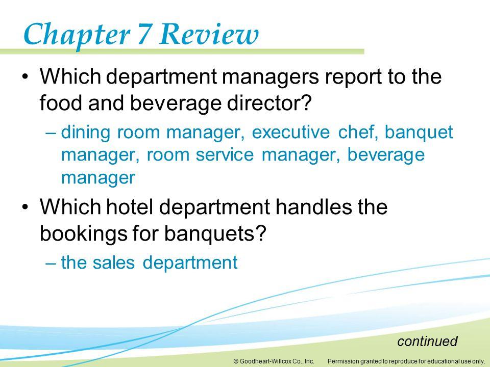 7 Hotel Food and Services 7 Hotel Food and Services