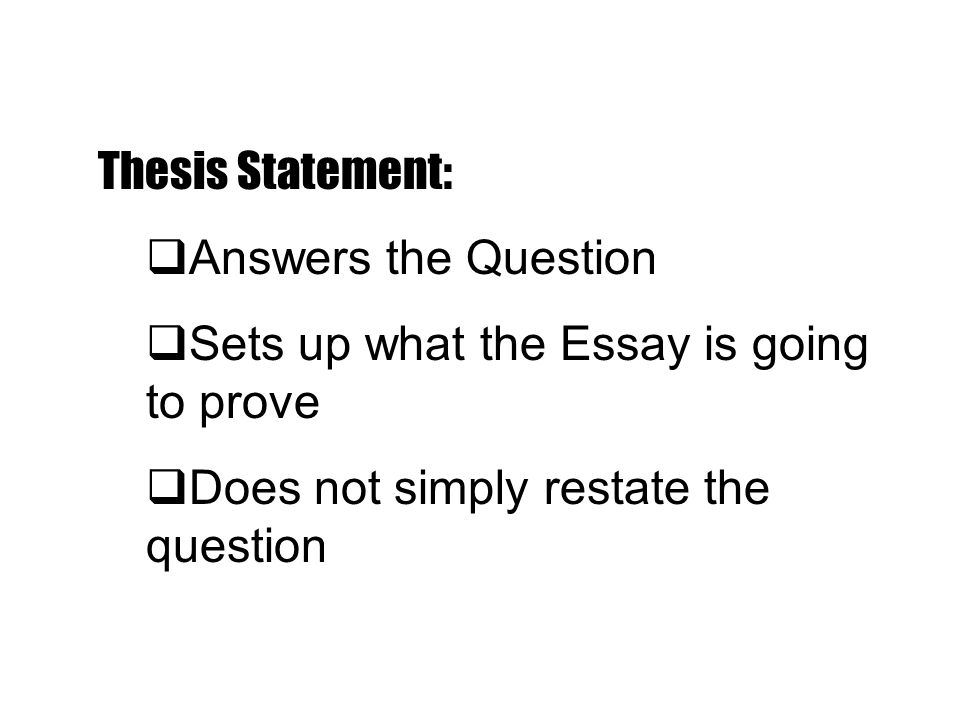thesis statement question answer Examples of thesis statement the answers to these questions can help you pinpoint the type of thesis where does thesis statement appear in the thesis.
