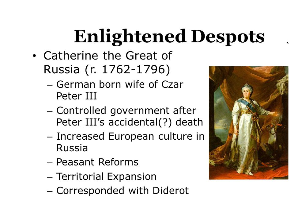 the governing policies of catherine the great of russia Catherine's great administrative innovation was the establishment of the supreme privy council of imperial russia on 8 february 1726 she named six of peter's former advisors as its members and effectively transferred control of government affairs to the new body, thereby undermining the authority of the senate and the synod, which had been.