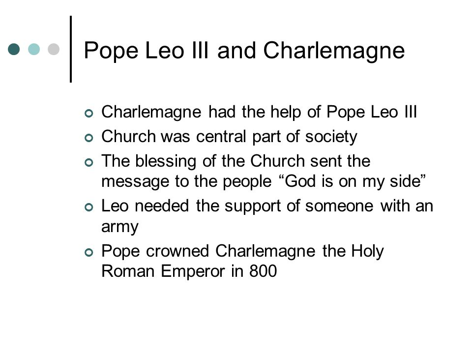 Pope Leo III and Charlemagne