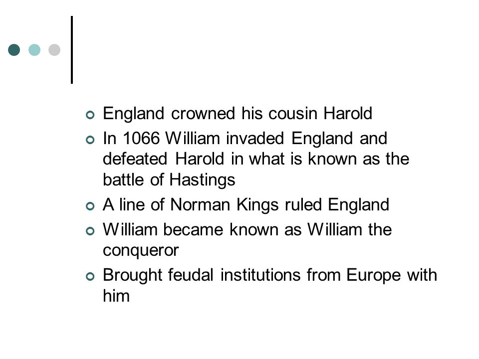 England crowned his cousin Harold