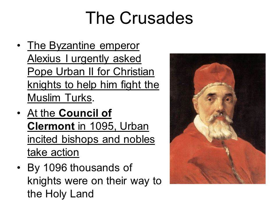 how pope urban incited the christians at clermont essay Why does pope urban ii call on the crusade jerusalem was and still is a very important city to both the muslims and the christians pilgrims of the.