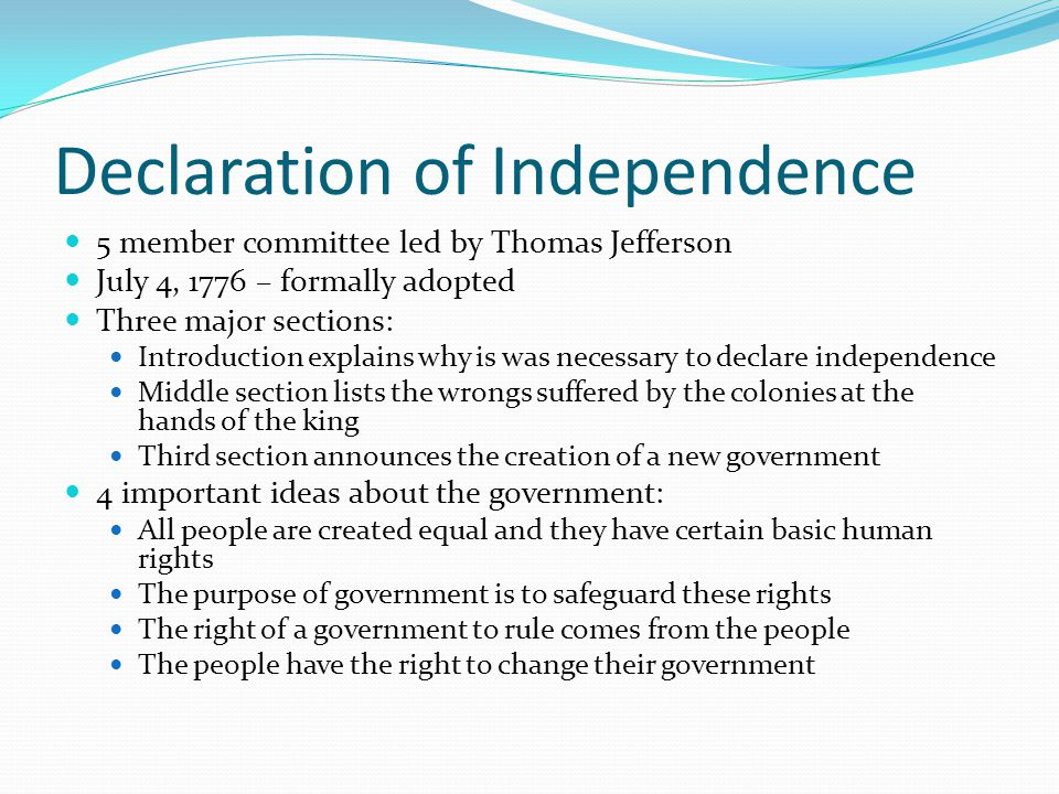 Jefferson's Declaration of Independence: Meaning and Interpretation