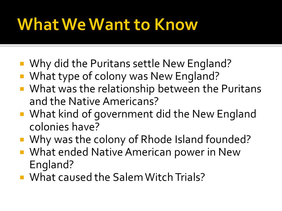 what type of government did the puritans have Our history classes tend to teach us that the puritans were a stuffy, religious   the tragic events that happened around the salem witch trials have gone a   where the king was both the head of the government and the ultimate head of   certain aspects of the church did extend to the government, however.