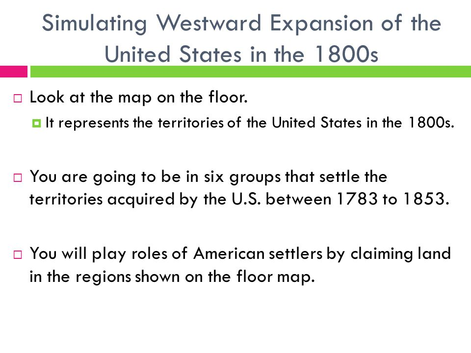 Simulating Westward Expansion Of The United States In The 1800s
