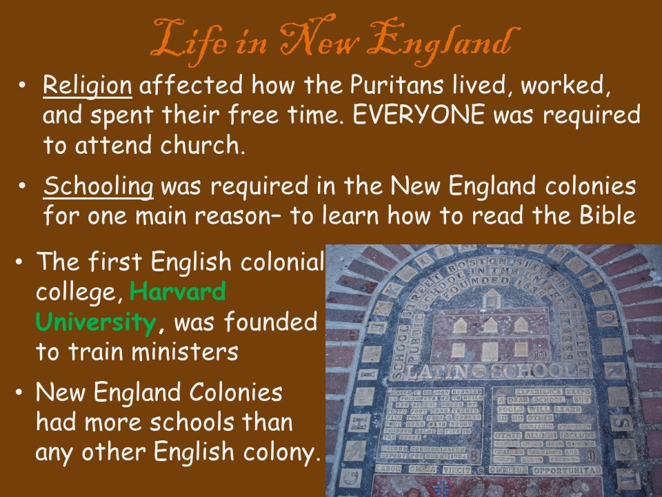 did the new england puritans live The puritan culture of the new england colonies of the seventeenth century was  influenced by  the puritans used personal diaries to record the ways in which  god was present in their lives and their personal struggles carrying out his.