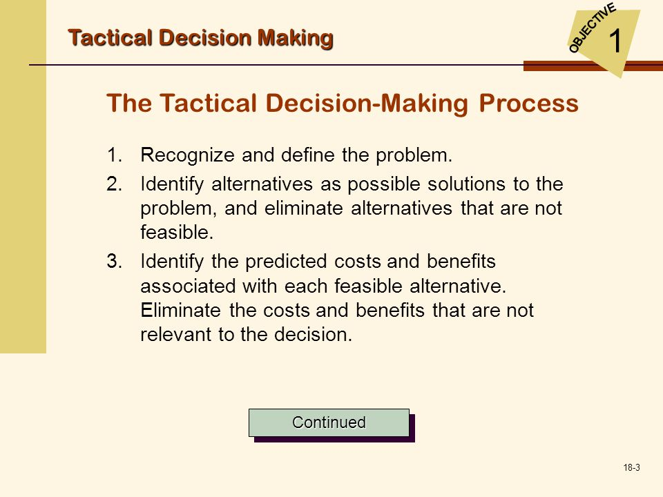 tactical decision making by tour operators Tactical shooting, a few thoughts you're making things too complicated problems down the road when operators were shooting faster than they could think.