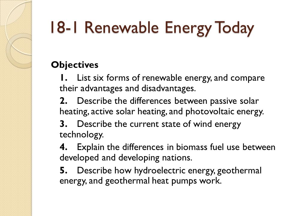Renewable Energy Chapter Ppt Download