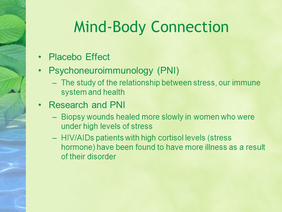 mind body connection research paper The mind body problem a reaction paper philosophy essay  given the length of this paper),  recent research indicates that brain activity and muscle movement.