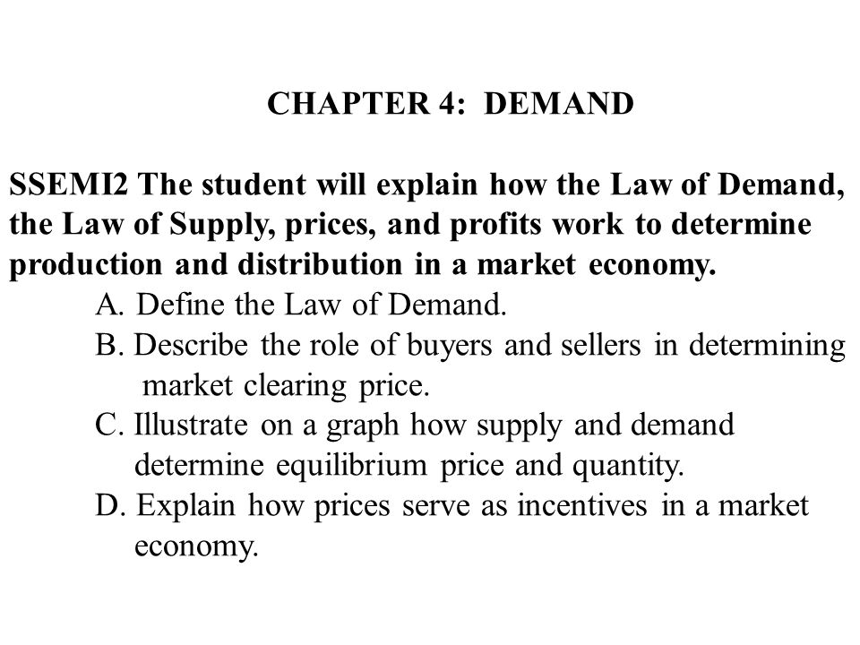explain the law of supply and demand