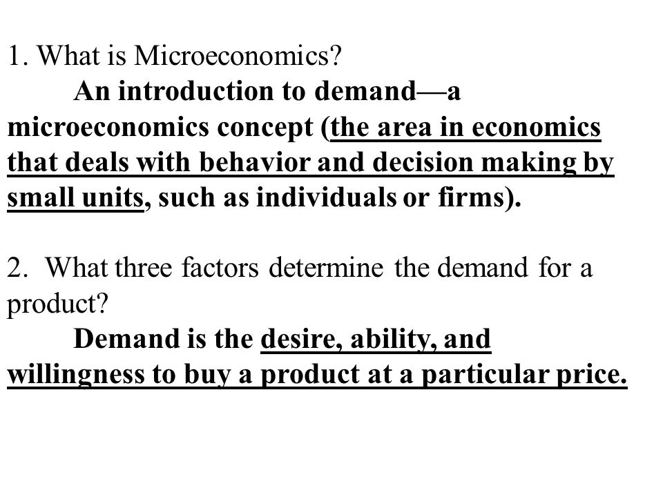 microeconomics supply and demand and price Now that we understand more about supply and demand, we can answer a few important questions: how does a drought impact supply what impact will the quantity supplied have on the equilibrium price.