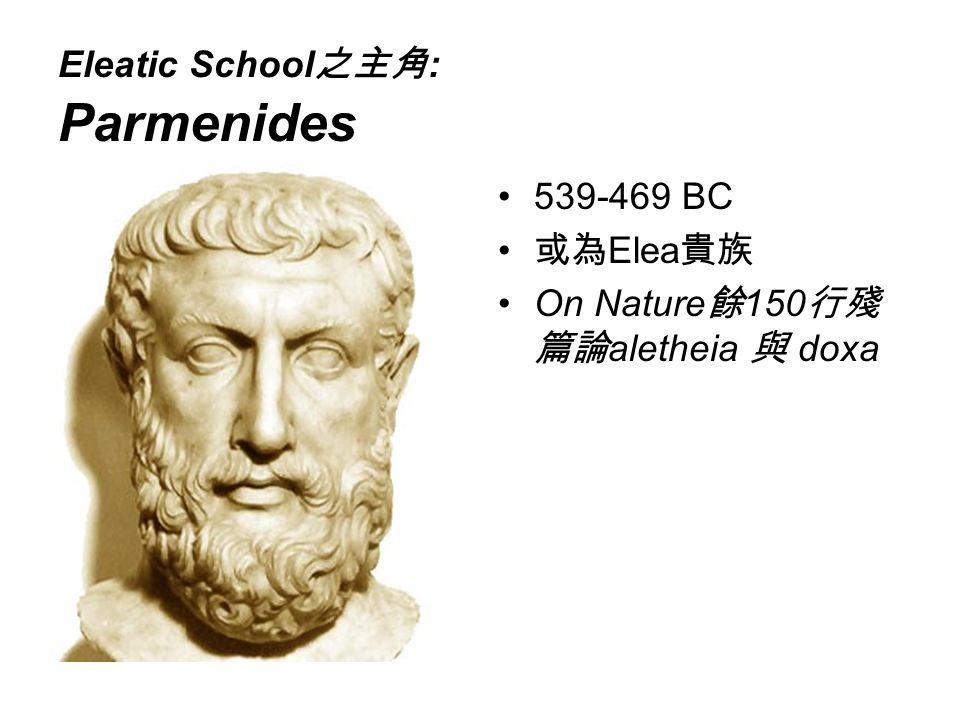 Eleatic School之主角: Parmenides