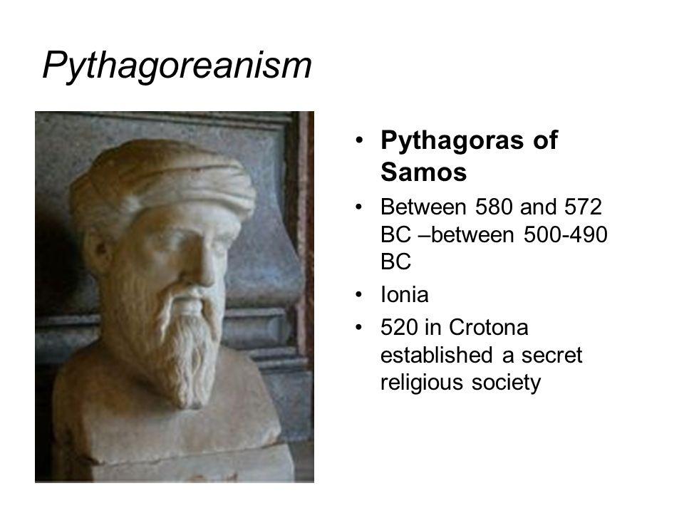 Pythagoreanism Pythagoras of Samos
