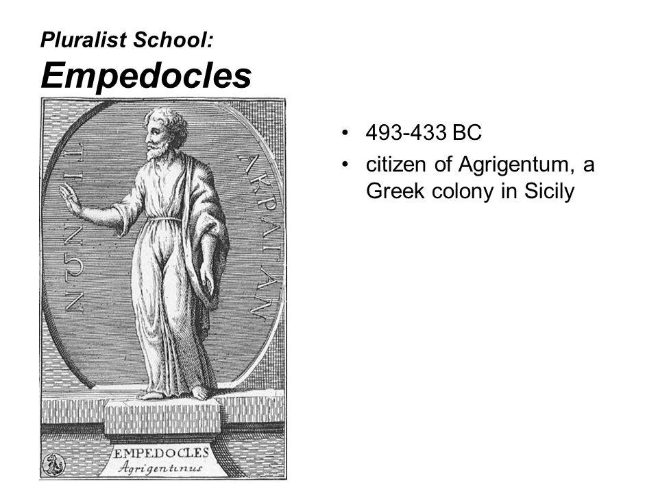 Pluralist School: Empedocles