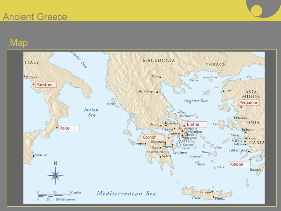 Ancient Greece Map. - ppt video online download on
