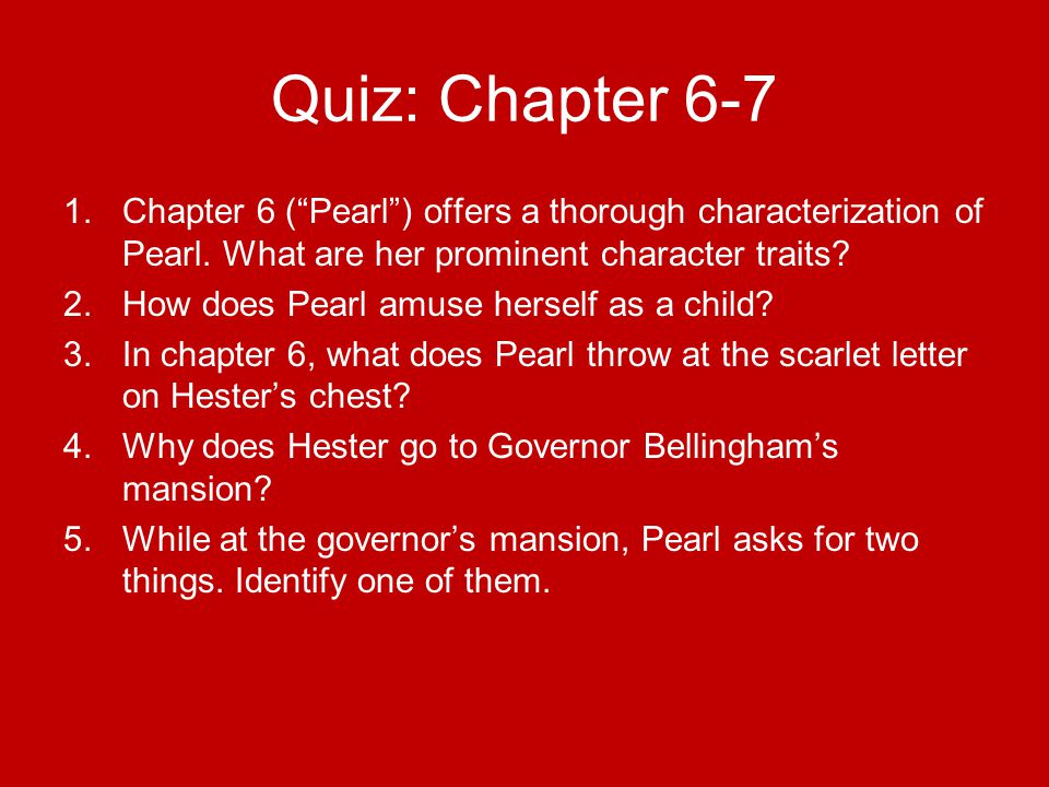 The Symbolic Value Of Pearl In The Scarlet Letter By Nathaniel