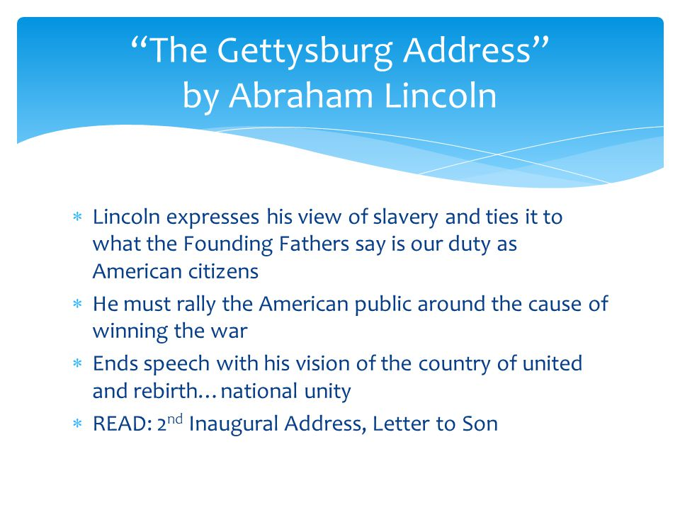 message gettysburg address Text messages: recommendations for abraham lincoln delivered the gettysburg address in 1863 the gettysburg address stands as a masterpiece of persuasive.