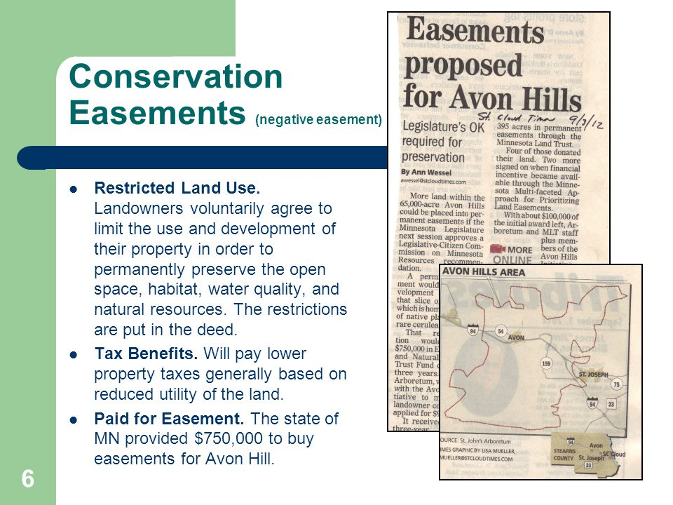 how to create a negative easement