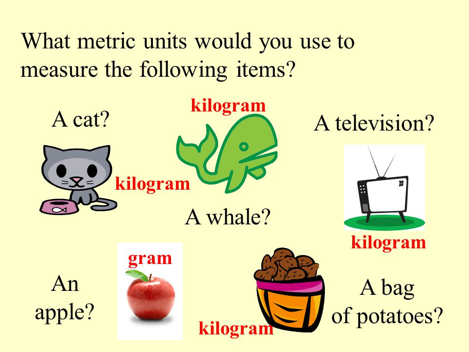 how to explain grams and kilograms and tons