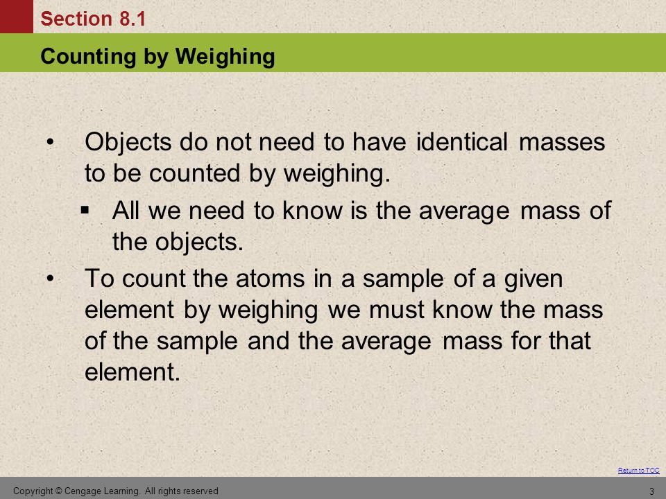 how to find average mass of an object