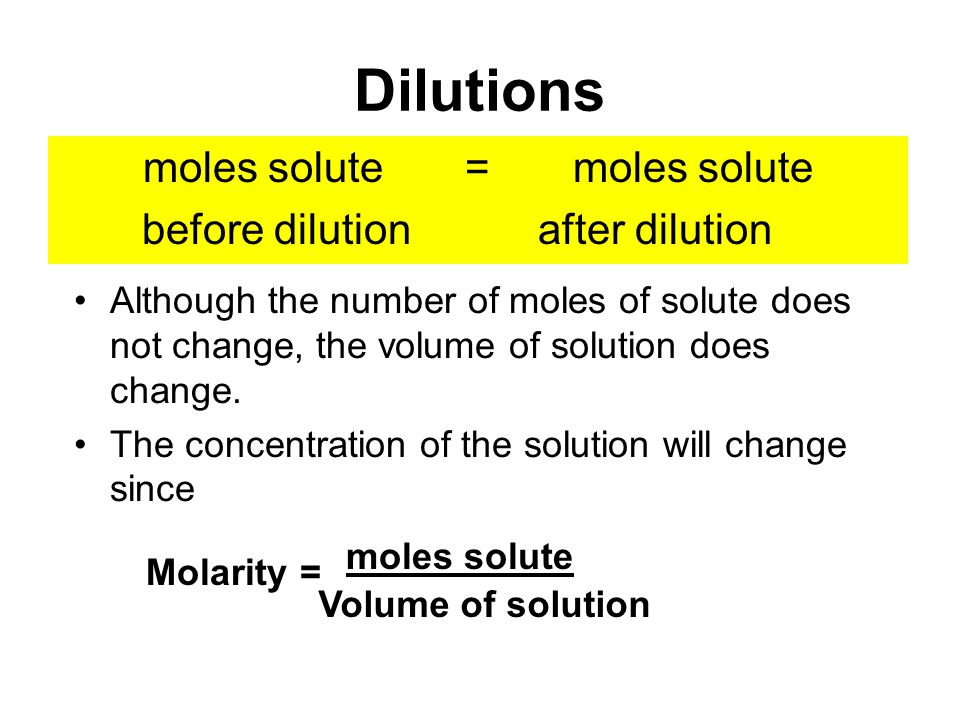 how to get concentration from moles and volume