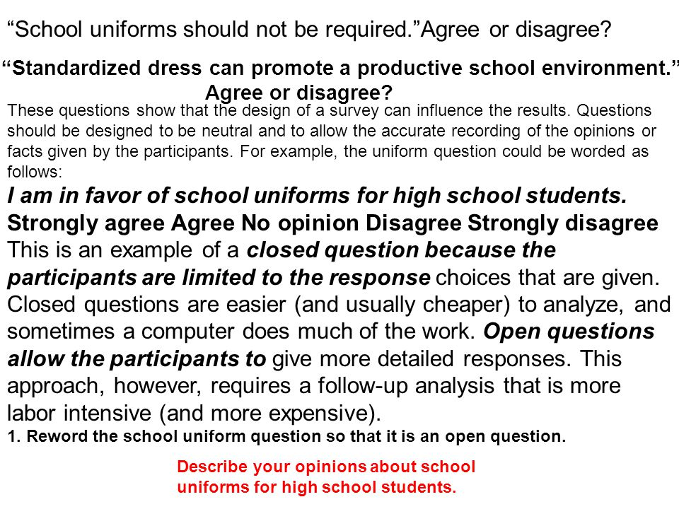 """school uniforms should not be mandated in us schools It's not so much a single uniform as a broad wardrobe of  championed  mandatory school uniforms """"as the kind of small-bore, low-cost,."""