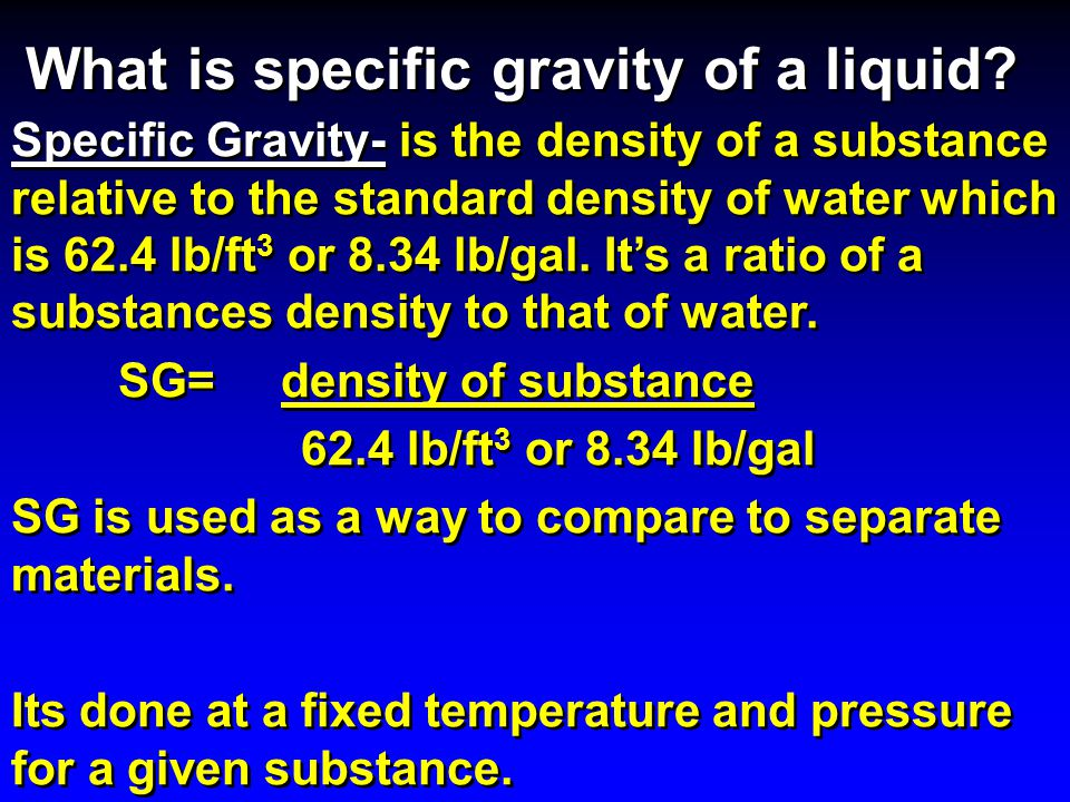 Basic Hydraulics Density Specific Gravity Ppt Video