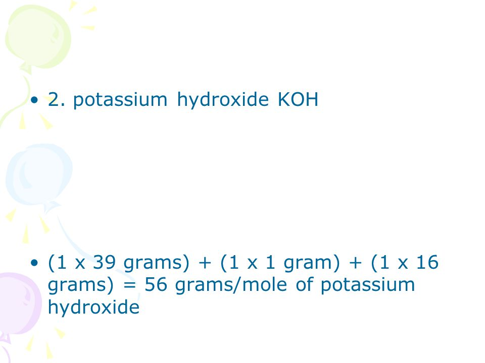 Molar Mass and Mole Calculation Problems ppt download – Grams Moles Calculations Worksheet
