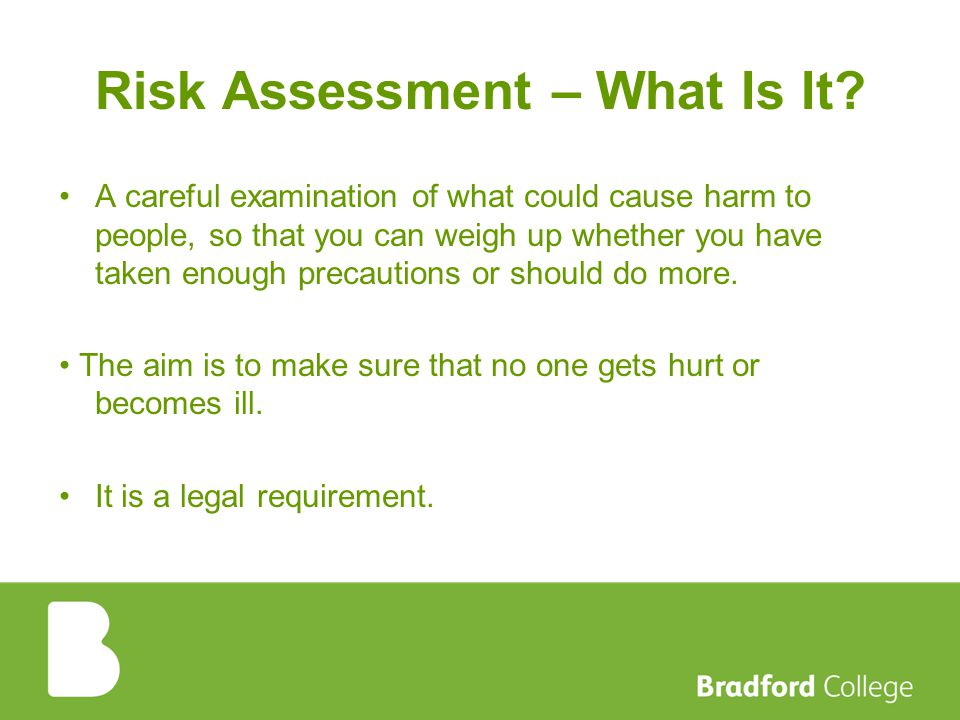 Risk Assessment – What Is It