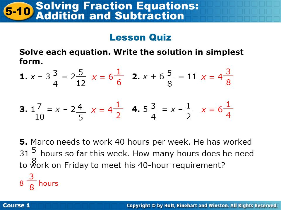 how to solve power fraction