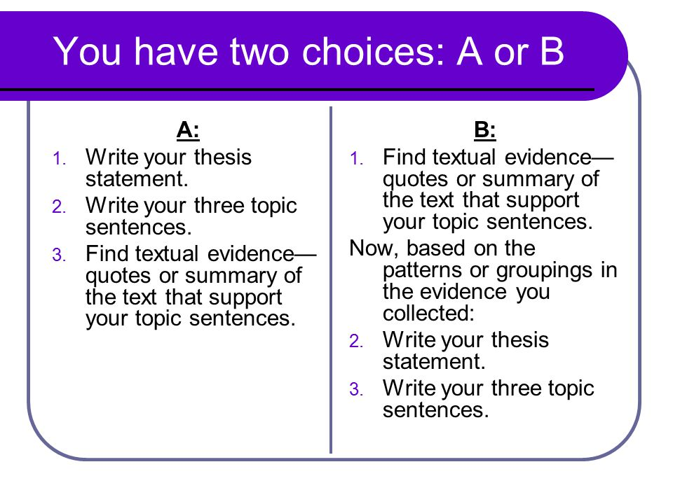 thesis statement multiple choice quiz What do you know about thesis statements and how best to write them find out  by answering the multiple-choice questions on this quiz and.
