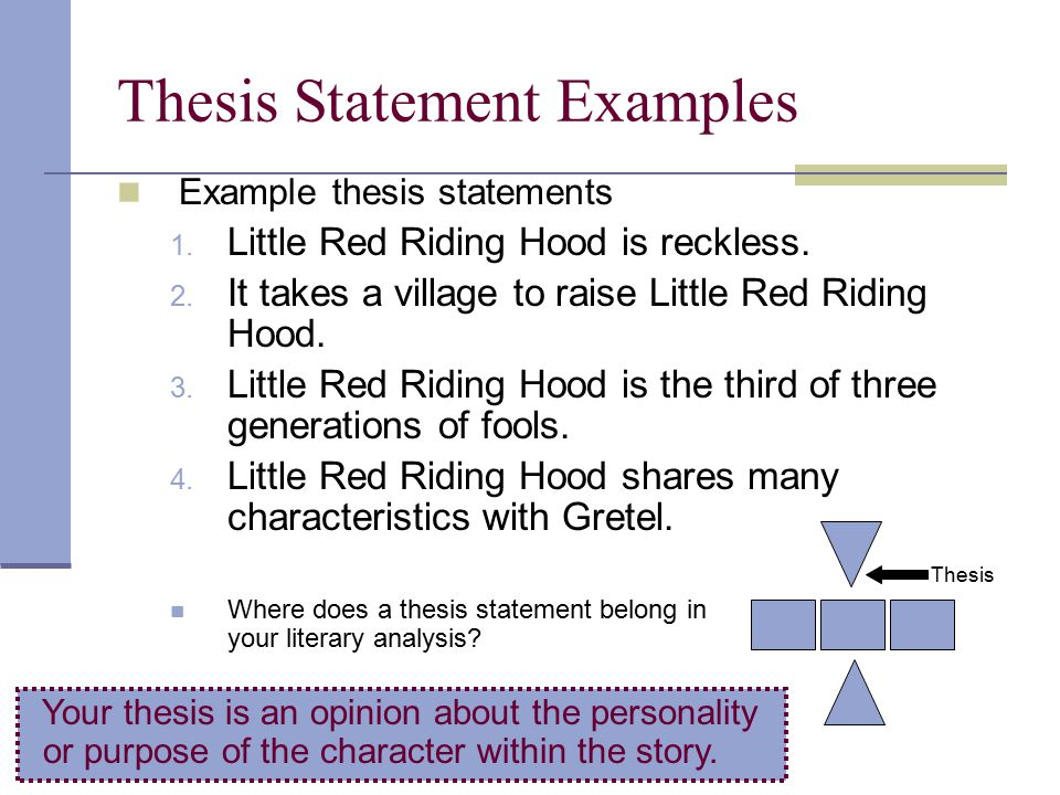 a great thesis statement example Сreating your own strong thesis statements has never been so fast and simple try our thesis statement generator for free without registration.