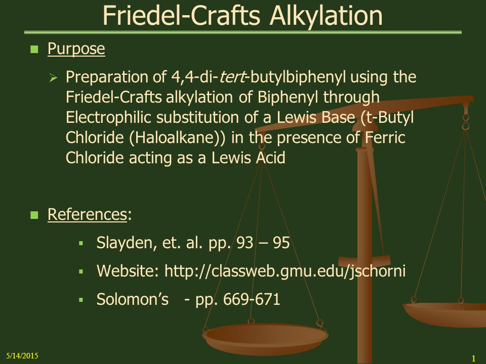 Friedel Crafts Acylation Of Biphenyl Mechanism