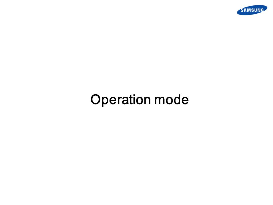 Operation mode