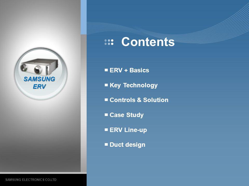 Contents ■ ERV + Basics ■ Key Technology SAMSUNG ■ Controls & Solution